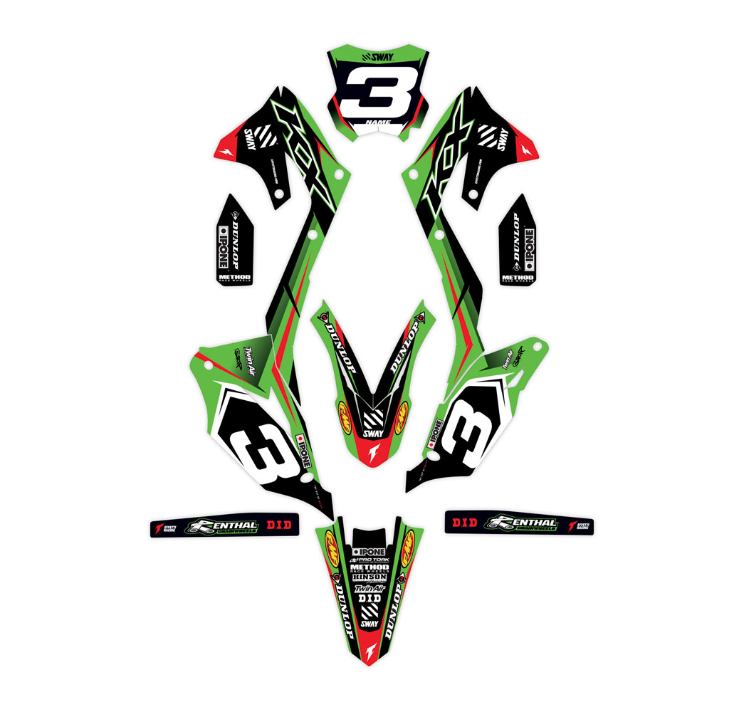 holeshot kawasaki effetti racing mx graphics. Black Bedroom Furniture Sets. Home Design Ideas