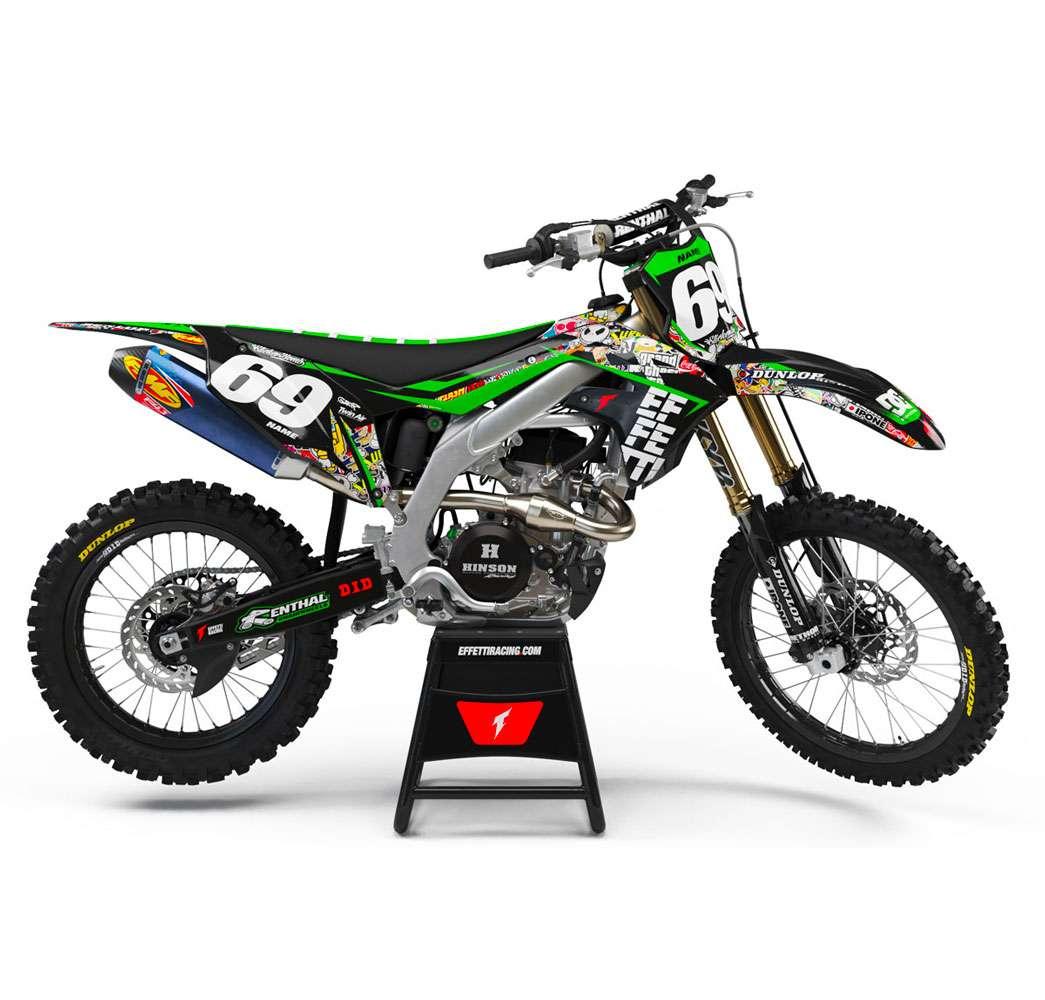 Stickerbomb Kawasaki Effetti Racing Mx Graphics Grafiche